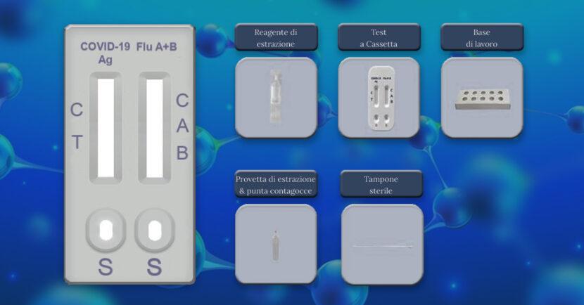 Test Rapido Antigene combo SARS-CoV-2 / Influenza A+B