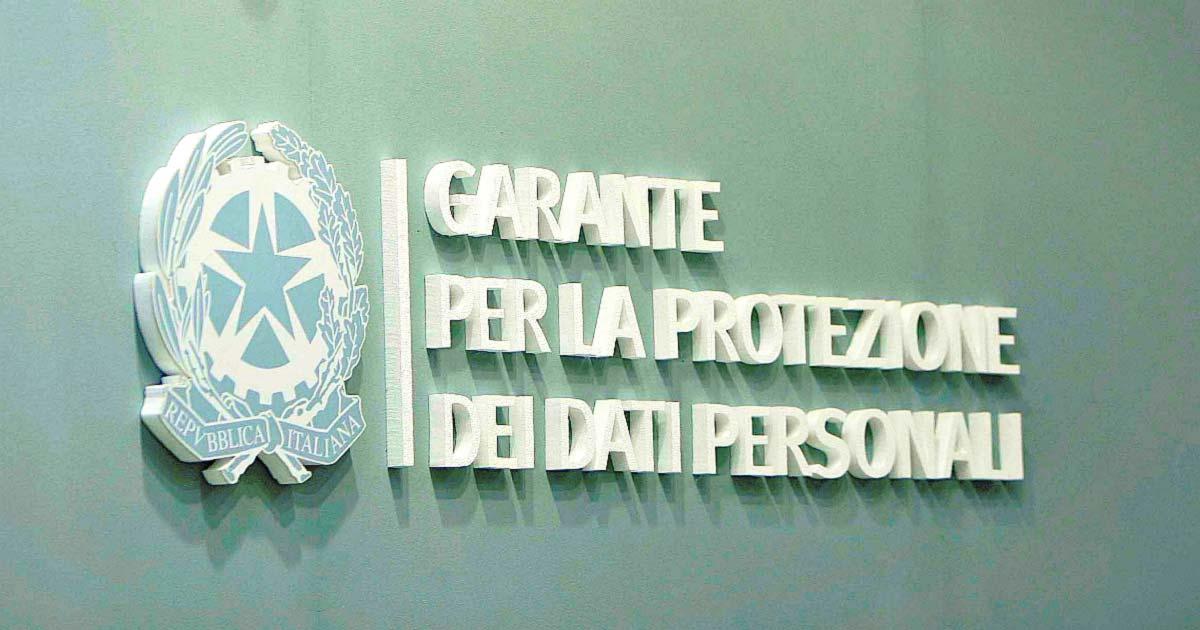 Protocollo INL - Garante Privacy